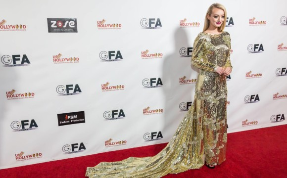 Savannah Kennick attends the Hollywood International Golden Film Awards Dinner Gala